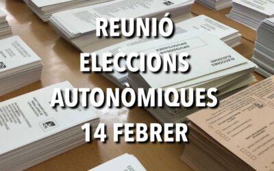 REUNIÓ ELECCIONS AUTONÒMIQUES 14F