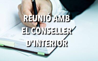 REUNIÓ AMB EL CONSELLER D'INTERIOR