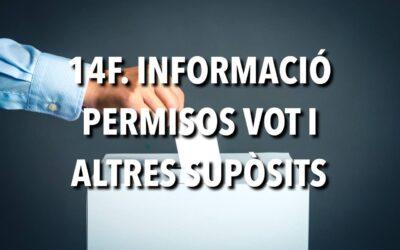 14F. INFORMACIÓ PERMISOS VOT I ALTRES SUPÒSITS