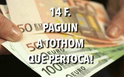 14 F. PAGUIN A TOTHOM QUE PERTOCA!